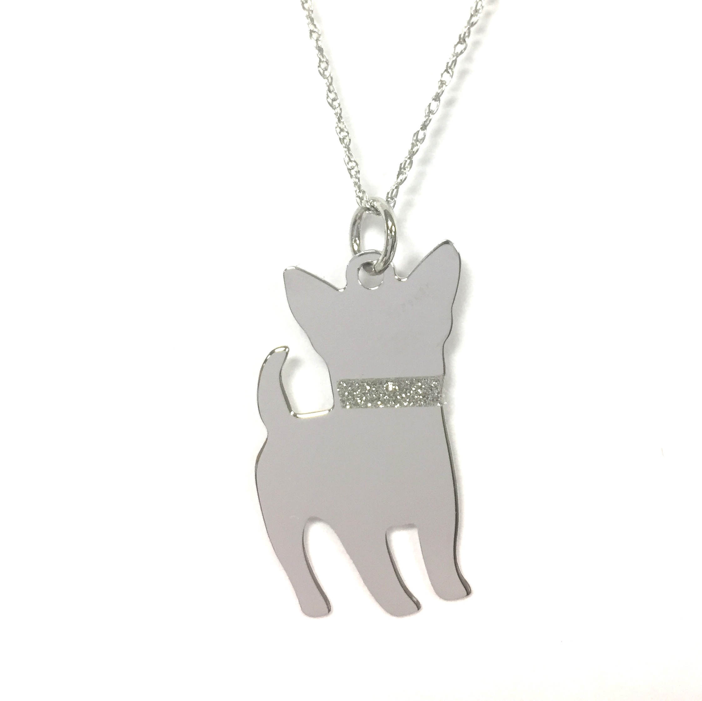 silver we chain bone dog dogs trust dogeared charm in necklace sterling on