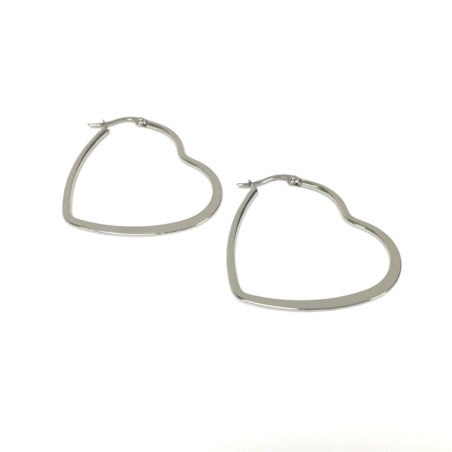Stainless Steel Heart Shape Earring