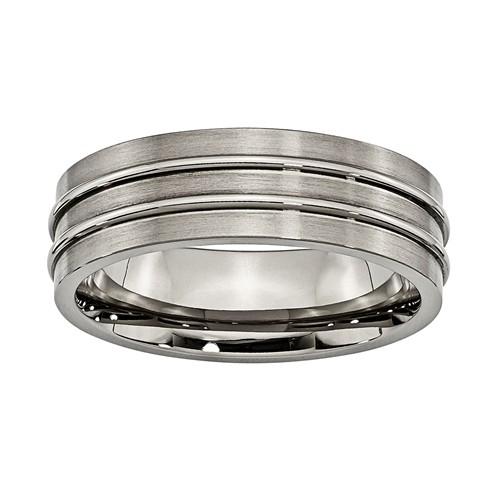 7mm titanium comfort fit band unisex wedding band ring toni bijoux