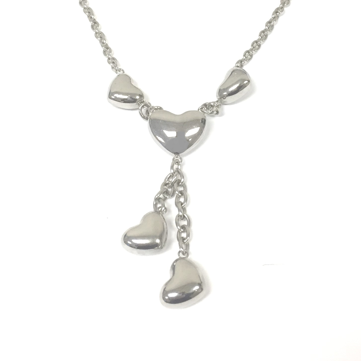 heart silver puff footnotes jewelry necklace jewellery products sterling
