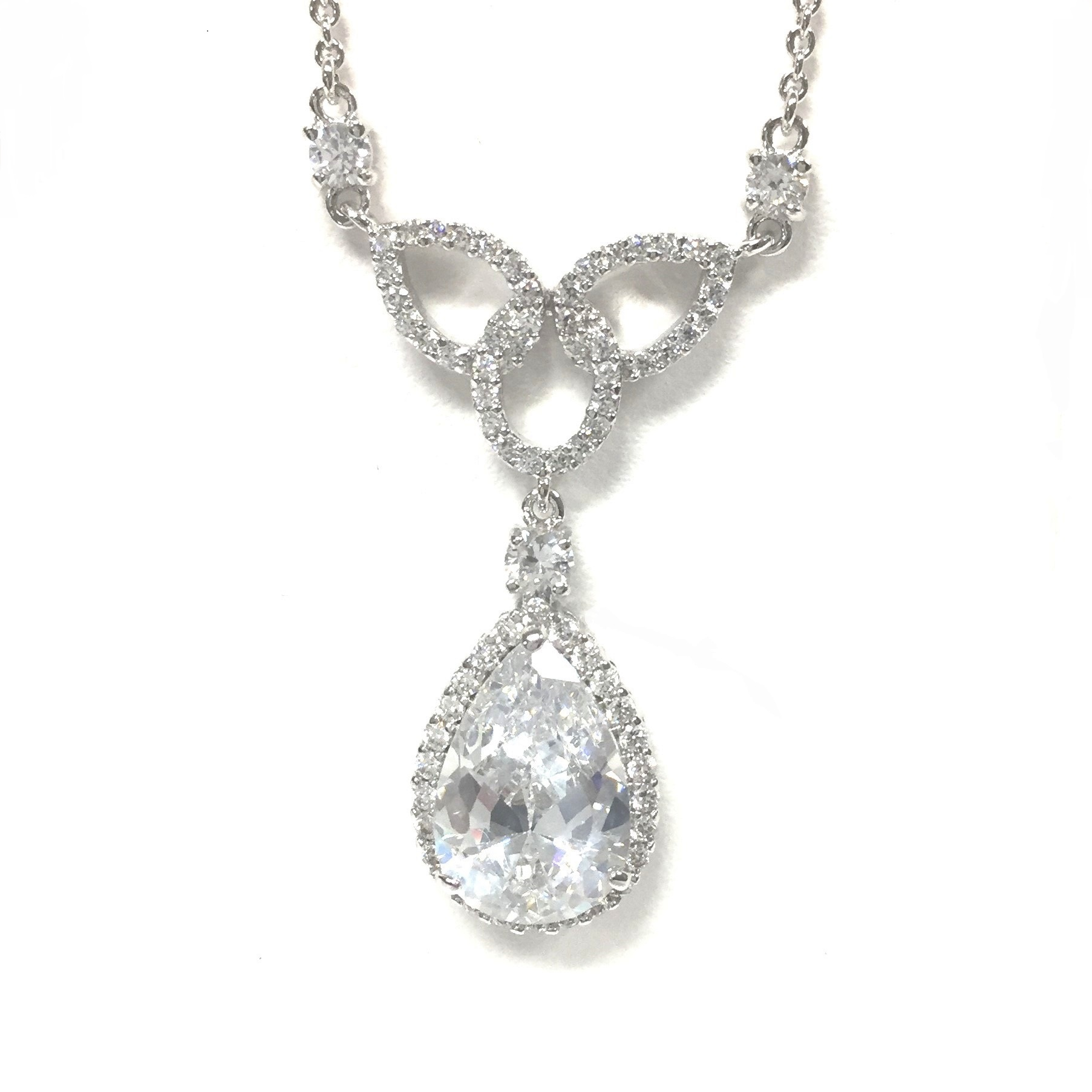 Jewelry Stores Network Sterling Silver Synthetic Stones /& CZ Pendant