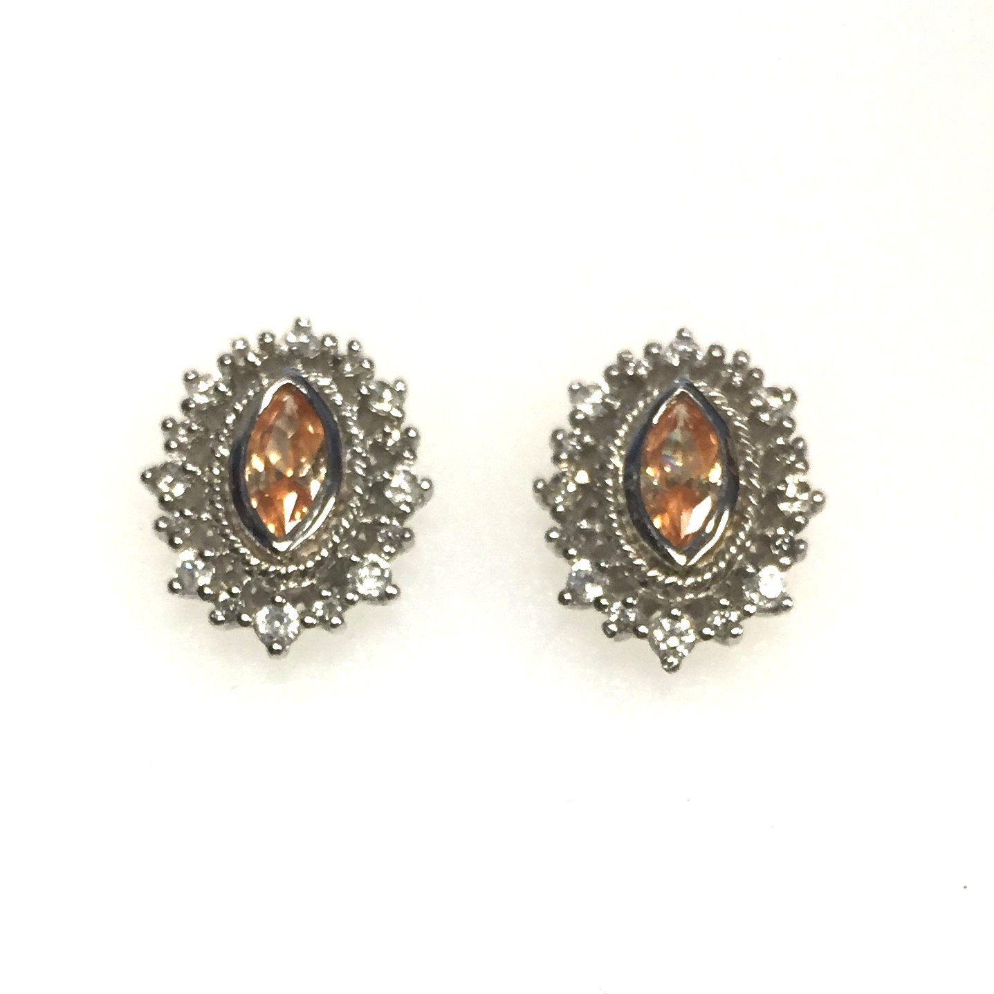 Sterling Silver Simulated Topaz Antique